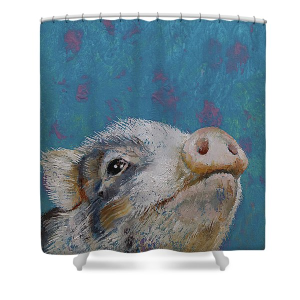 Baby Pig Shower Curtain