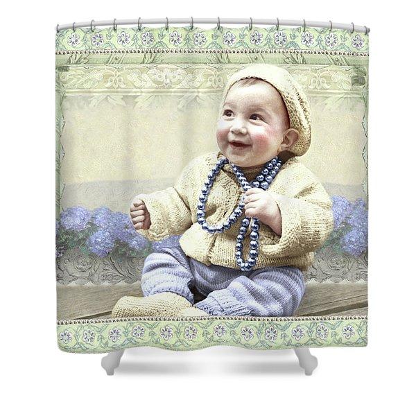 Baby Wears Beads Shower Curtain