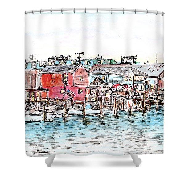 Back Bay, Atlantic City, Nj Shower Curtain
