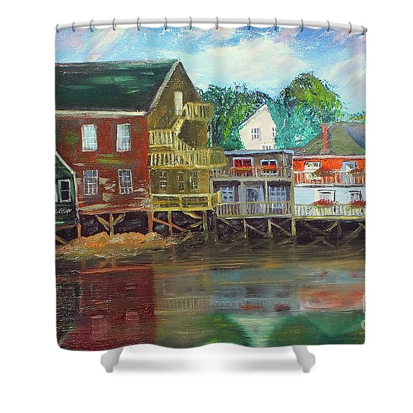 Back Bay Kennebunkport Shower Curtain