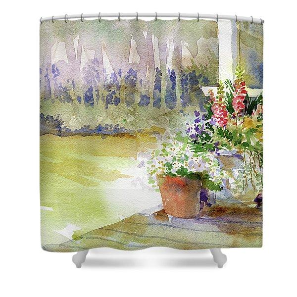 Back Deck Shower Curtain