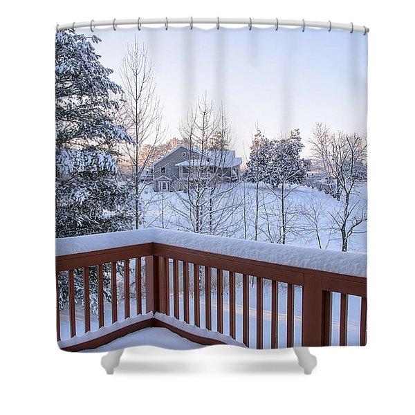 Morning Sun Winter Light Shower Curtain