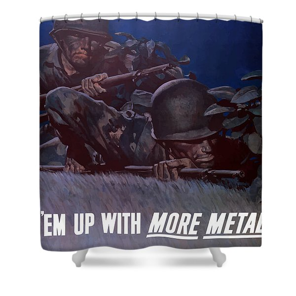 Back 'em Up -- Ww2 Shower Curtain