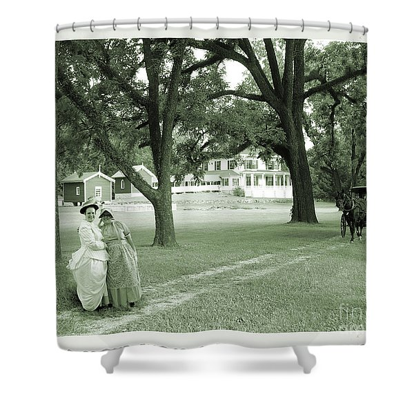 Back In Time At Hardman Farm Shower Curtain