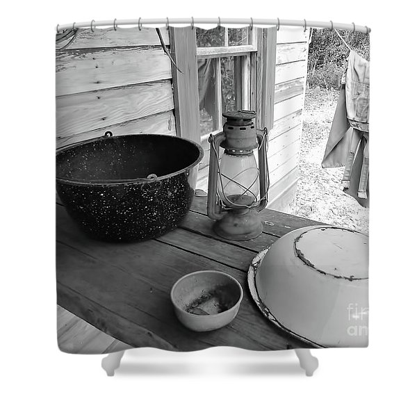 Back In Time B - W Shower Curtain