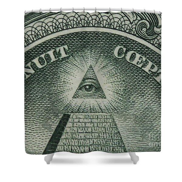 Back Of 1 Dollar Bill Shower Curtain