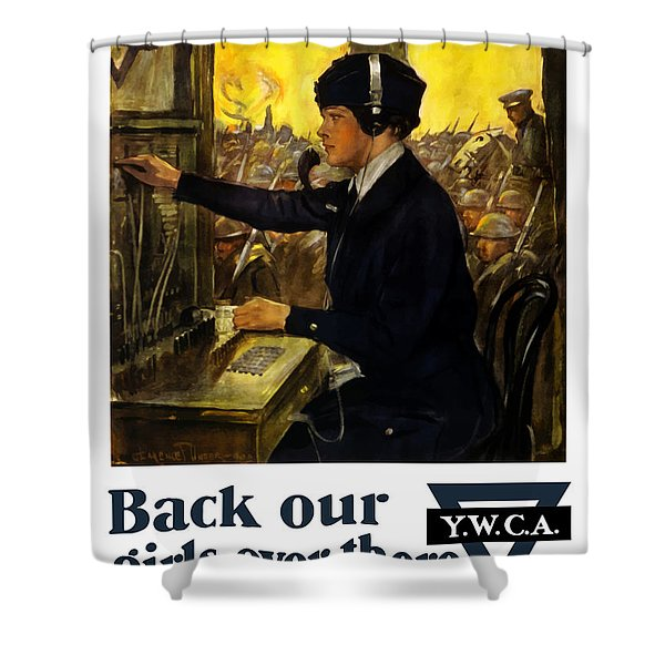 Back Our Girls Over There Shower Curtain