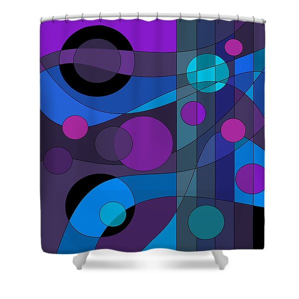 Back Room Blues Shower Curtain