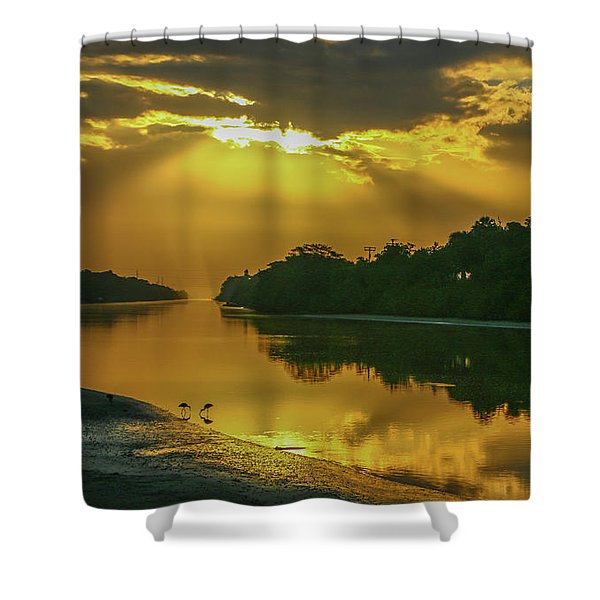 Shower Curtain featuring the photograph Back Up Reflection by Tom Claud