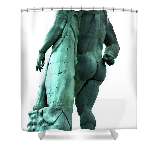 Back View From Great Hercules Shower Curtain