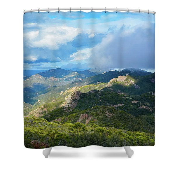 Backbone Trail Santa Monica Mountains Shower Curtain