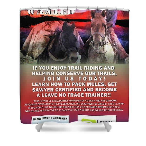 Backcountry Horsemen Join Us Poster II Shower Curtain