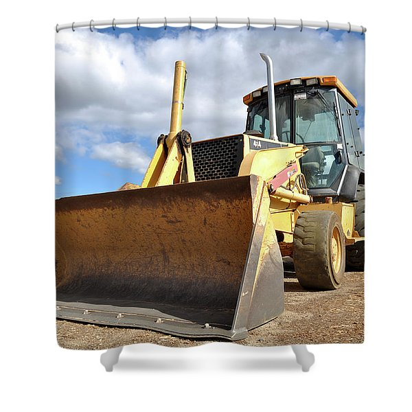 Backhoe Tractor Construction Shower Curtain