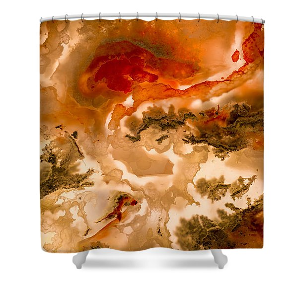 Backlit Agate 2 Shower Curtain