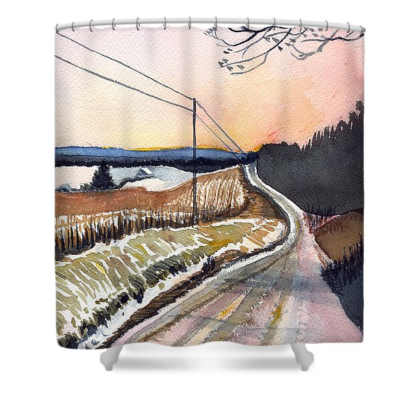 Backlit Roads Shower Curtain