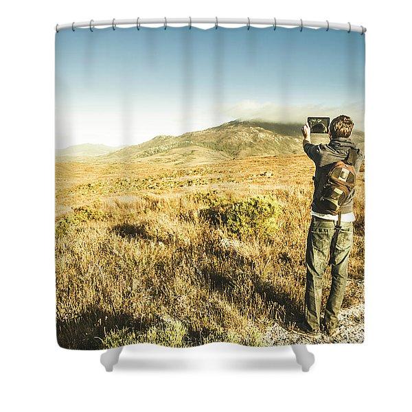 Backpacking Wonders Shower Curtain