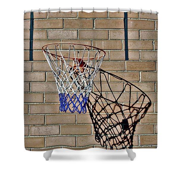Backyard Basketball Shower Curtain