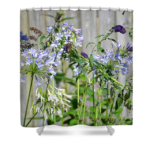 Backyard Flowers Shower Curtain
