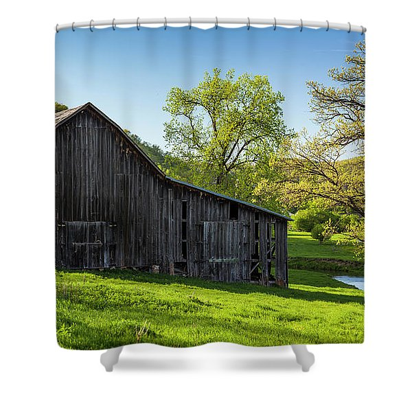 Bad Axe Barn Shower Curtain
