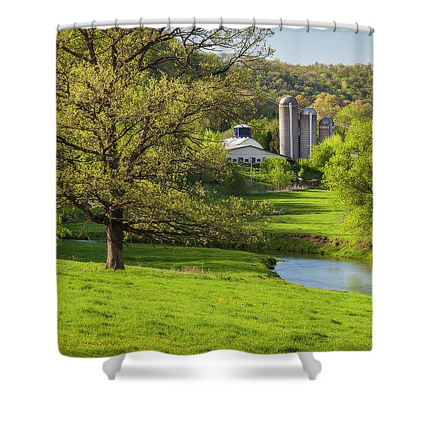 Bad Axe River Shower Curtain