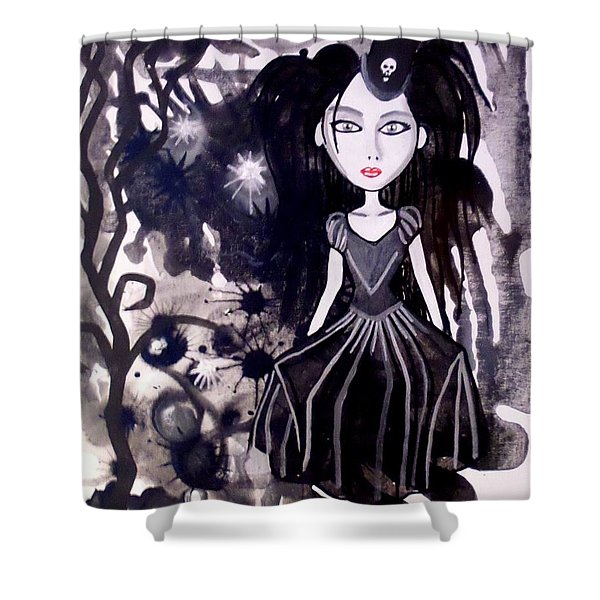 Bad Doll  Shower Curtain