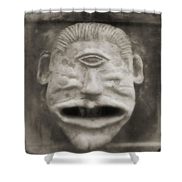 Bad Face Shower Curtain