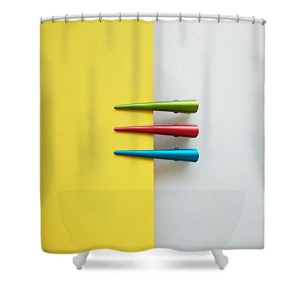 Hairclips Shower Curtain