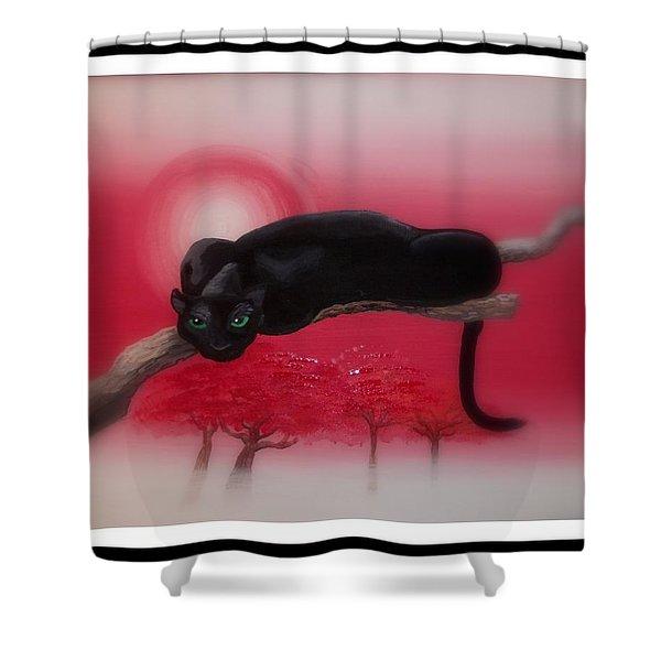 Bad Leopard   Shower Curtain