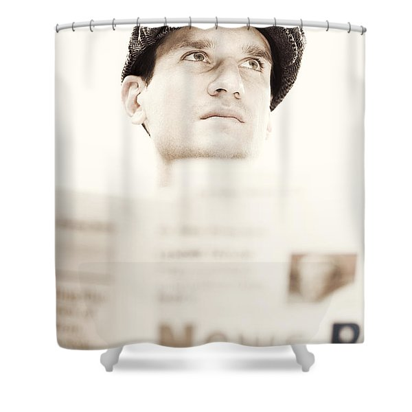 Bad News From Vintage Times Shower Curtain