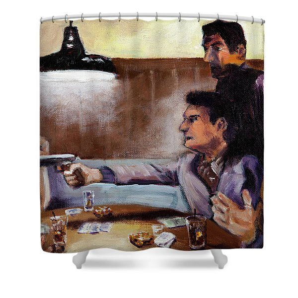 Bad Table Manners Shower Curtain