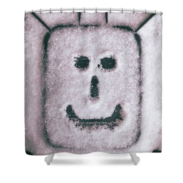 Bad Weather, Good Face Shower Curtain