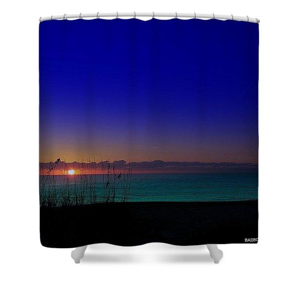 Badblue Sunrise  Shower Curtain
