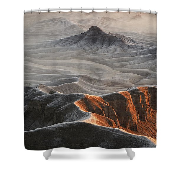 Badlands Fog Shower Curtain