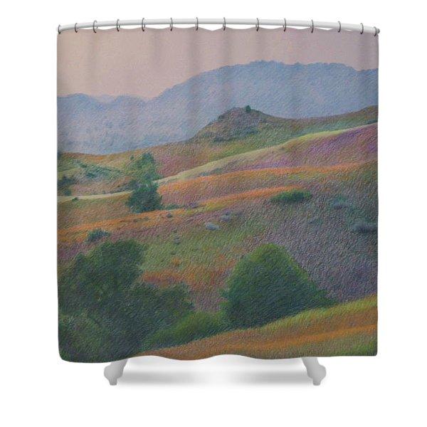 Badlands In July Shower Curtain