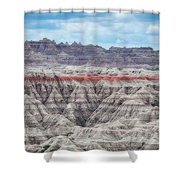 Badlands National Park Vista Shower Curtain