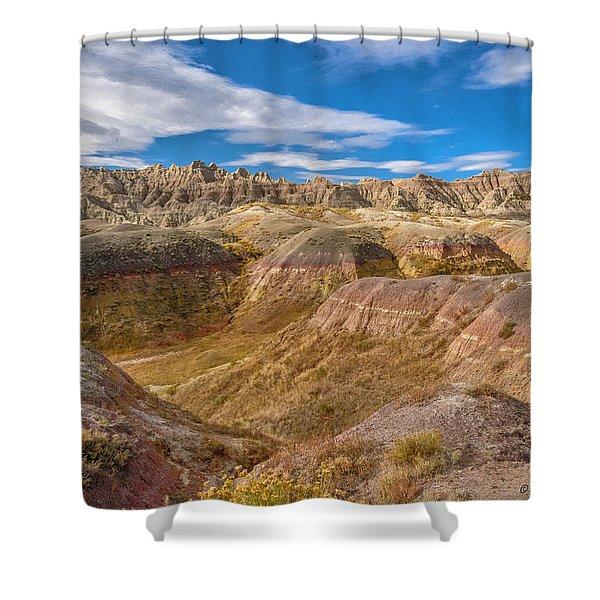 Badlands South Dakota Shower Curtain