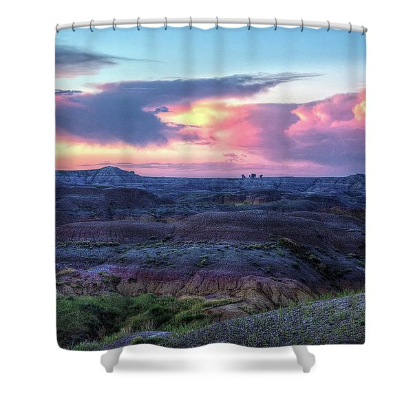 Badlands Sunrise Shower Curtain