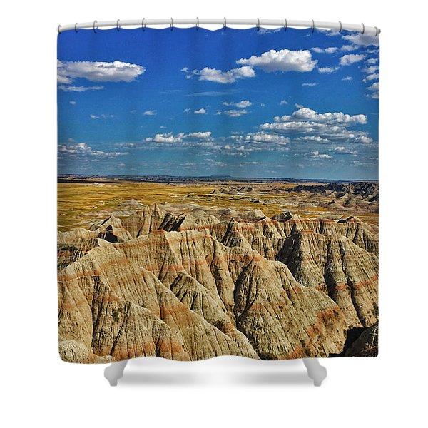 Badlands To Plains Shower Curtain