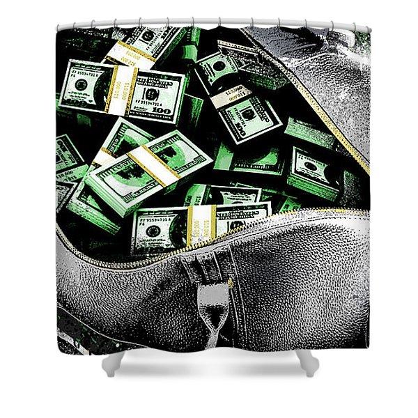 Bag-o-money Shower Curtain