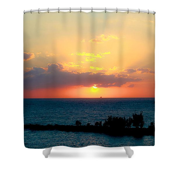 Bahamas Sunset Shower Curtain