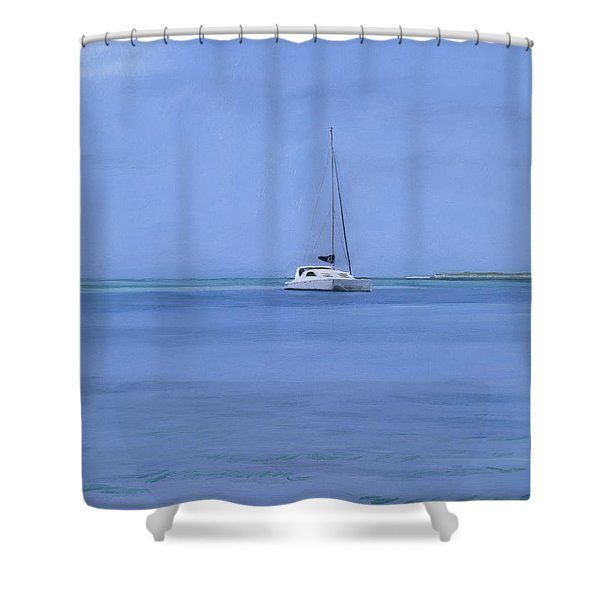 Bahamian Boat Shower Curtain