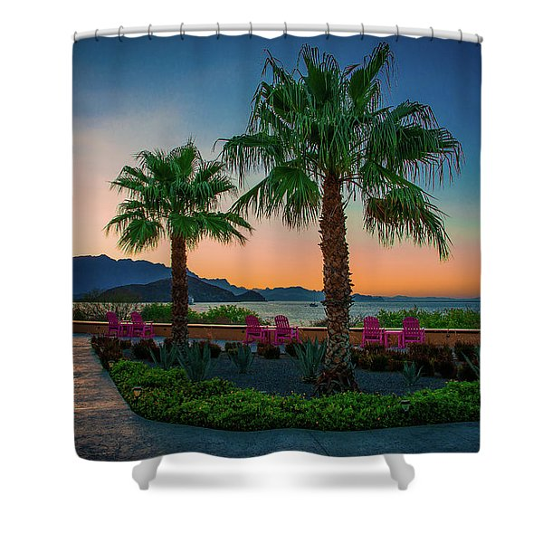 Baja Sunset Shower Curtain