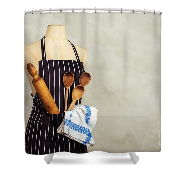 Baking Utensils Shower Curtain