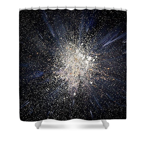 Shower Curtain featuring the painting Balance by Michael Lucarelli