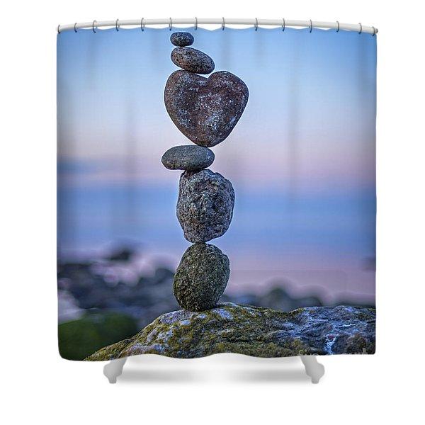 Balanced Heart Shower Curtain