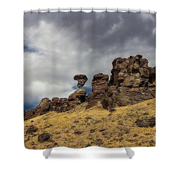 Balanced Rock Adventure Photography By Kaylyn Franks Shower Curtain