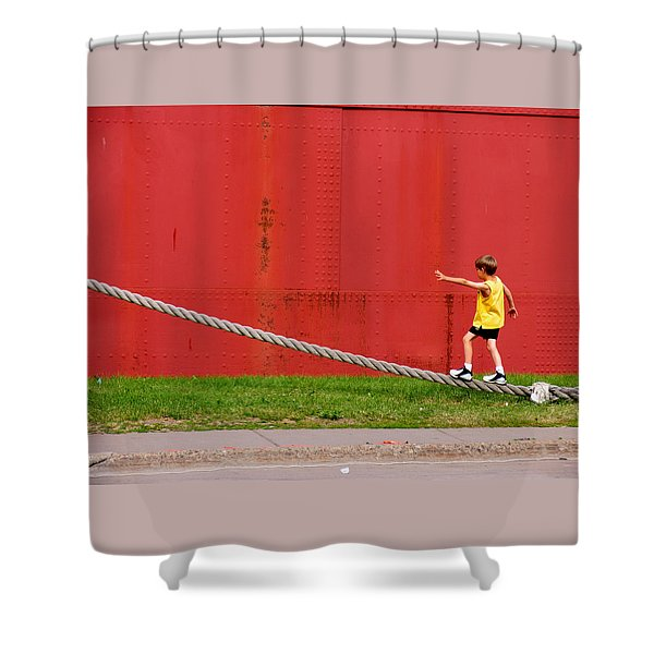 020 - Harbor Time Shower Curtain