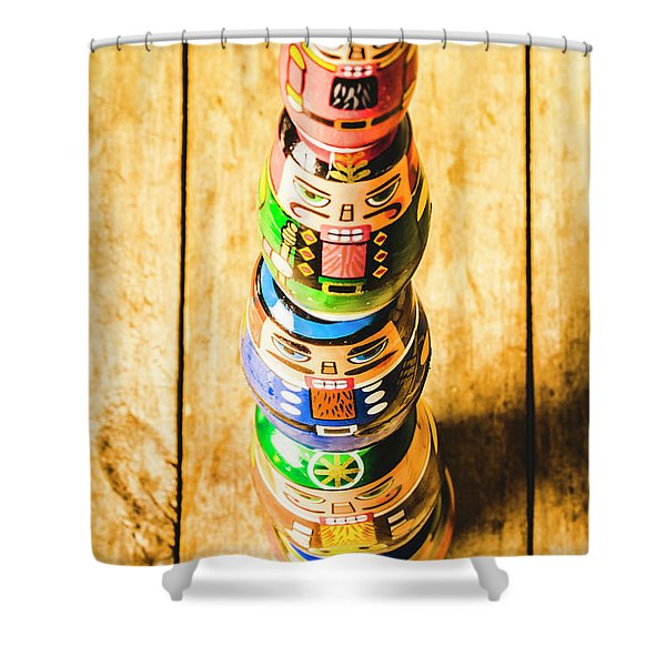 Balancing The Command Structure Shower Curtain