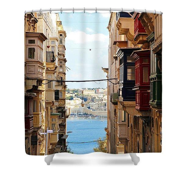 Balconies Of Valletta 2 Shower Curtain