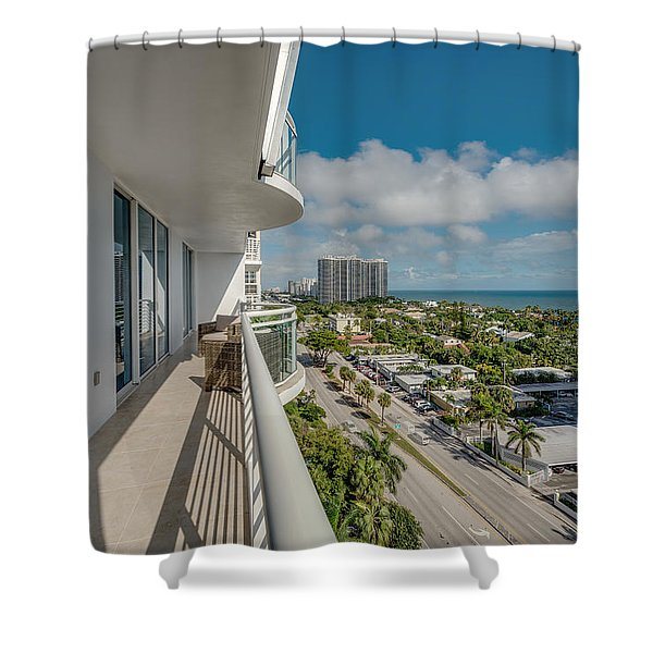 Shower Curtain featuring the photograph Balcony Life by Jody Lane